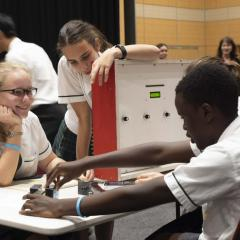 Brisbane high school students competing in the Science and Engineering Challenge at UQ