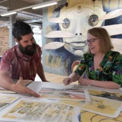 ART-ificial Intelligence: UQ scientists pair up with street artists as part of street-art festival