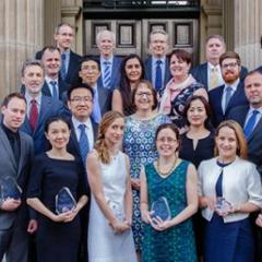 Group photo of Researchers celebrated at UQ awards