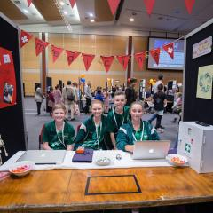 Students competing in the 2018 Young ICT Explorers competition at UQ.