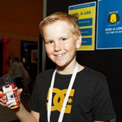 young student at ICT explorers competition